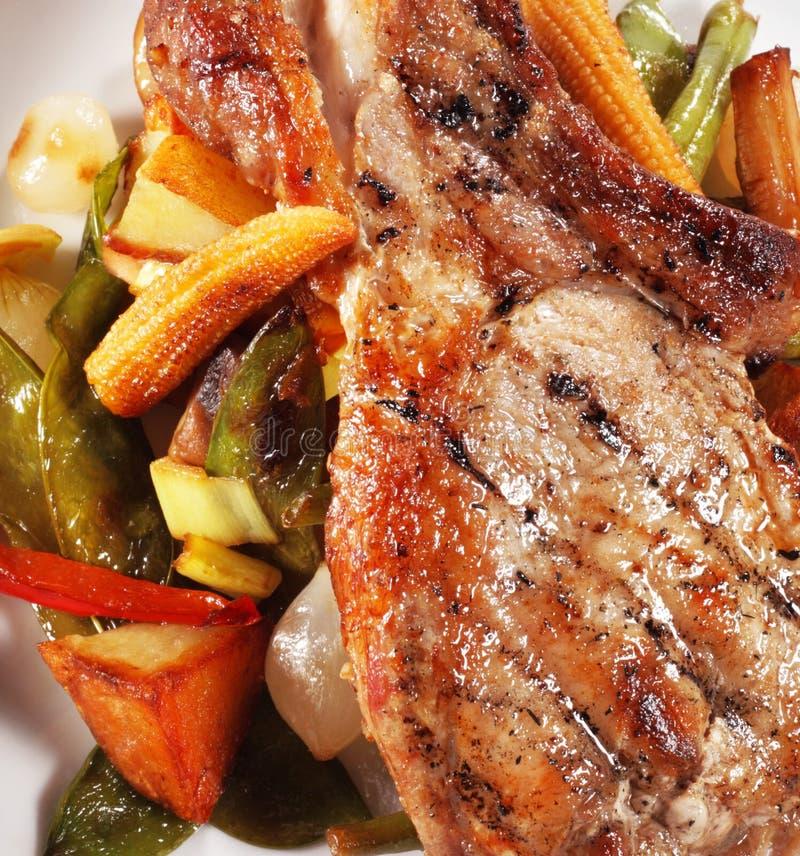 胸肉玉米猪肉 库存照片