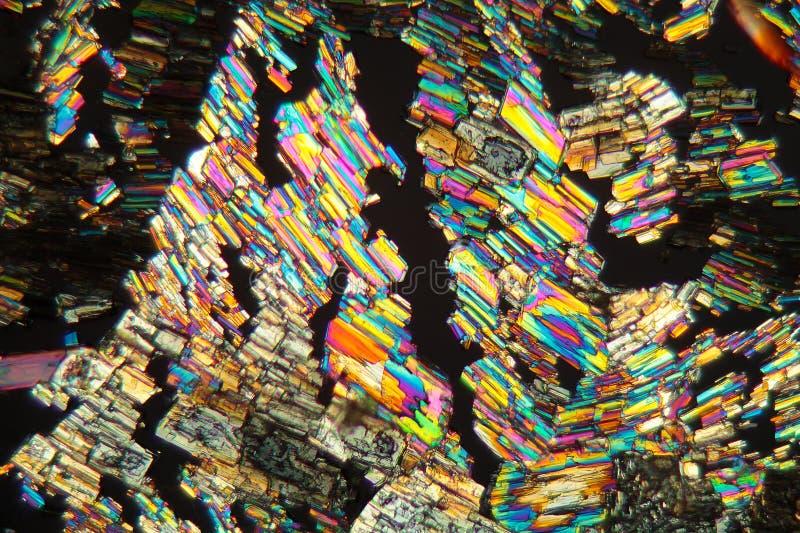 胺基代丙酸氨基酸在显微镜下 免版税库存照片