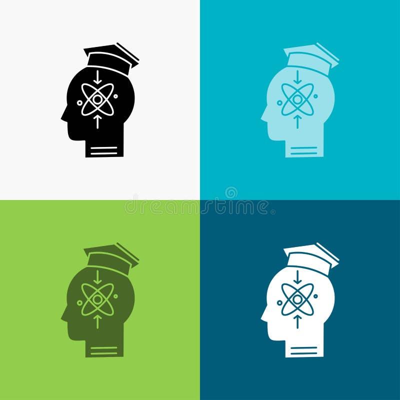 能力,头,人,知识,在各种各样的背景的技巧象 r 10 eps 库存例证