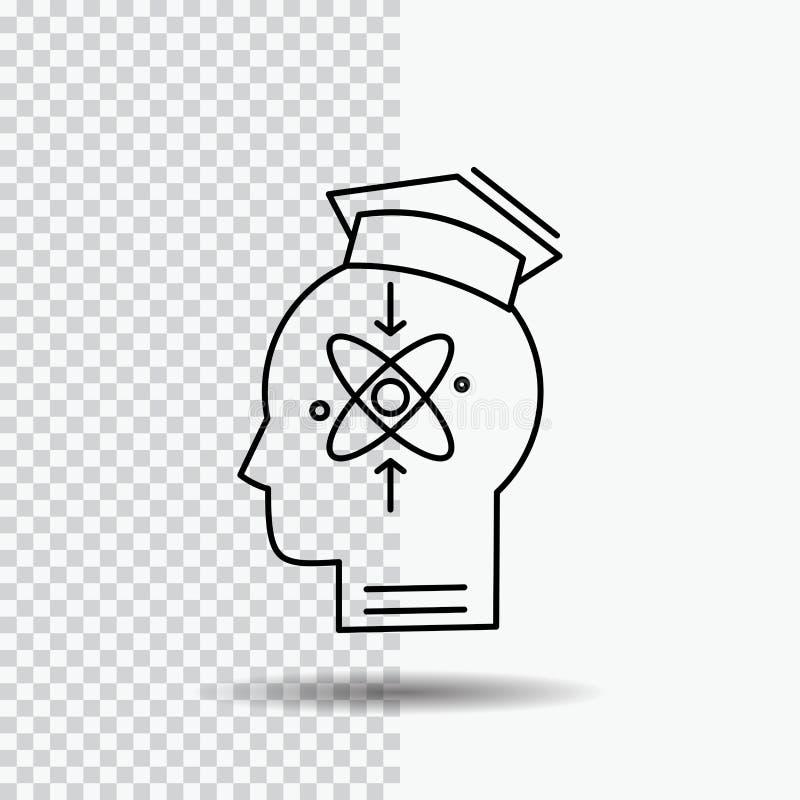 能力,头,人,知识,在透明背景的技巧线象 r 库存例证