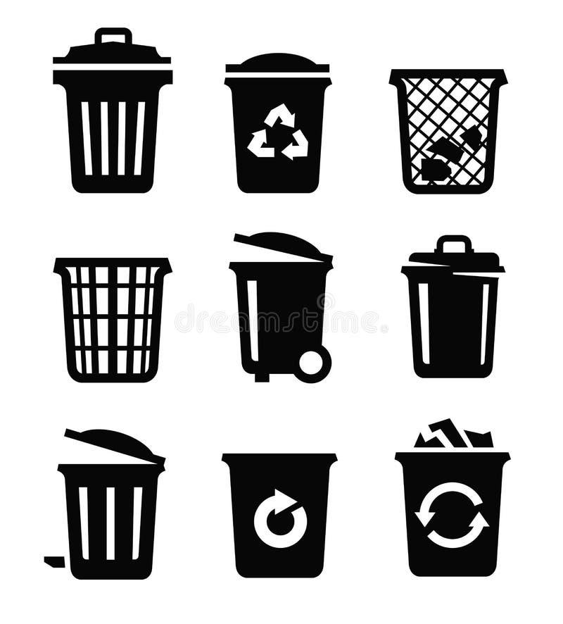 8能在垃圾向量白色的eps例证 向量例证