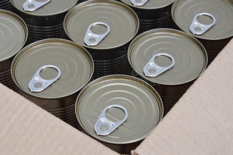 能在箱子的食物 免版税库存照片