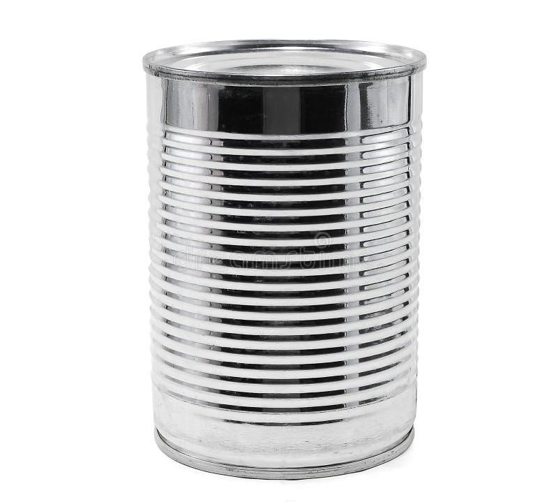 能查出的罐子白色 免版税库存照片