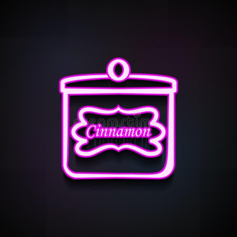 能桂香象 面包店流动概念和网apps的商店象的元素 氖罐头桂香象可以为网使用 库存例证