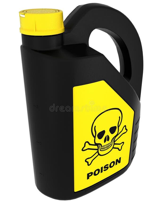 能毒害含毒物 库存例证