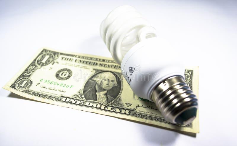 能源保存电灯泡 库存图片