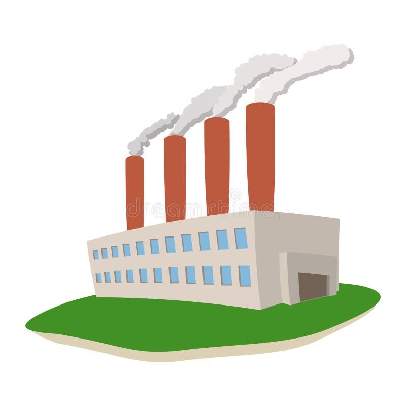 从能源厂出来的发烟 向量例证