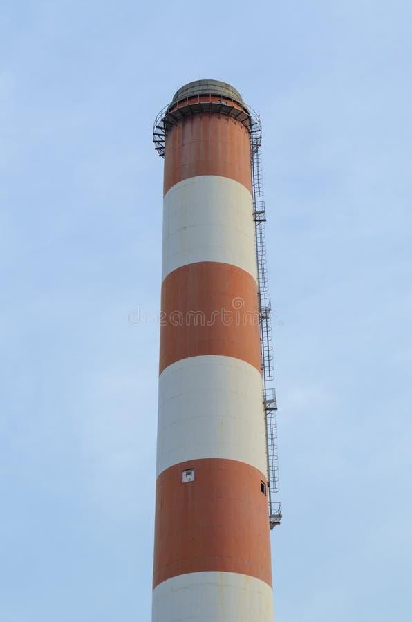 能源厂的堆 免版税库存图片