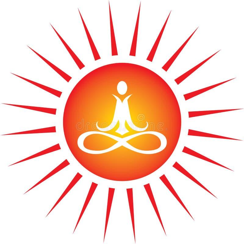 能源图标瑜伽 库存例证