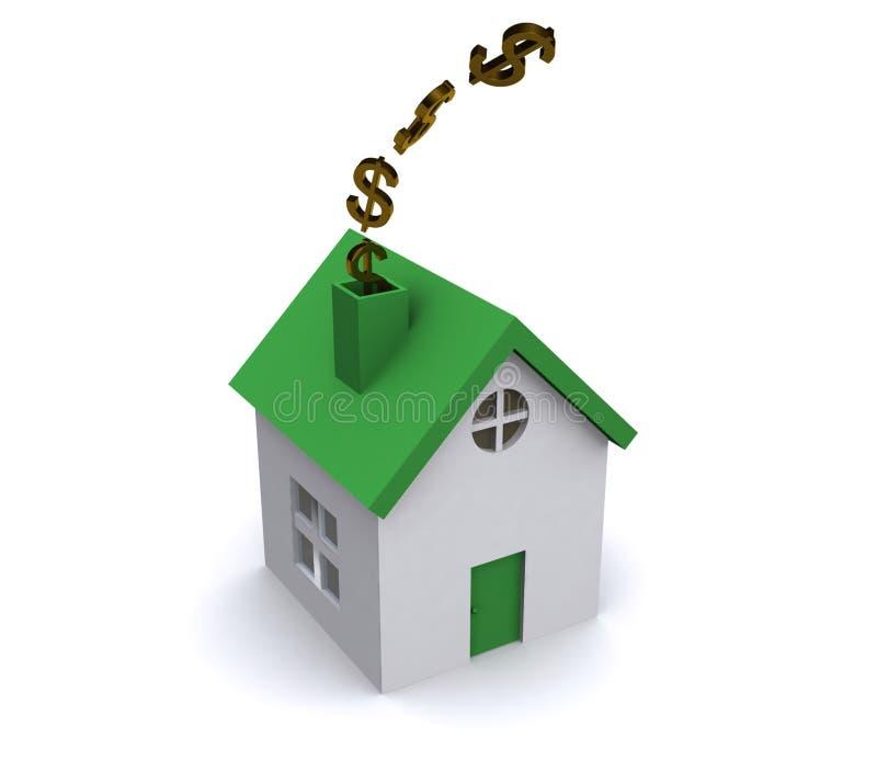 能源房子使用 向量例证