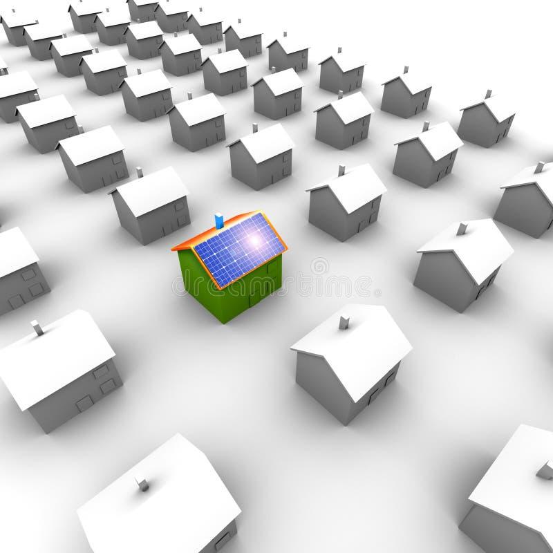 能源房子挣货币太阳 向量例证