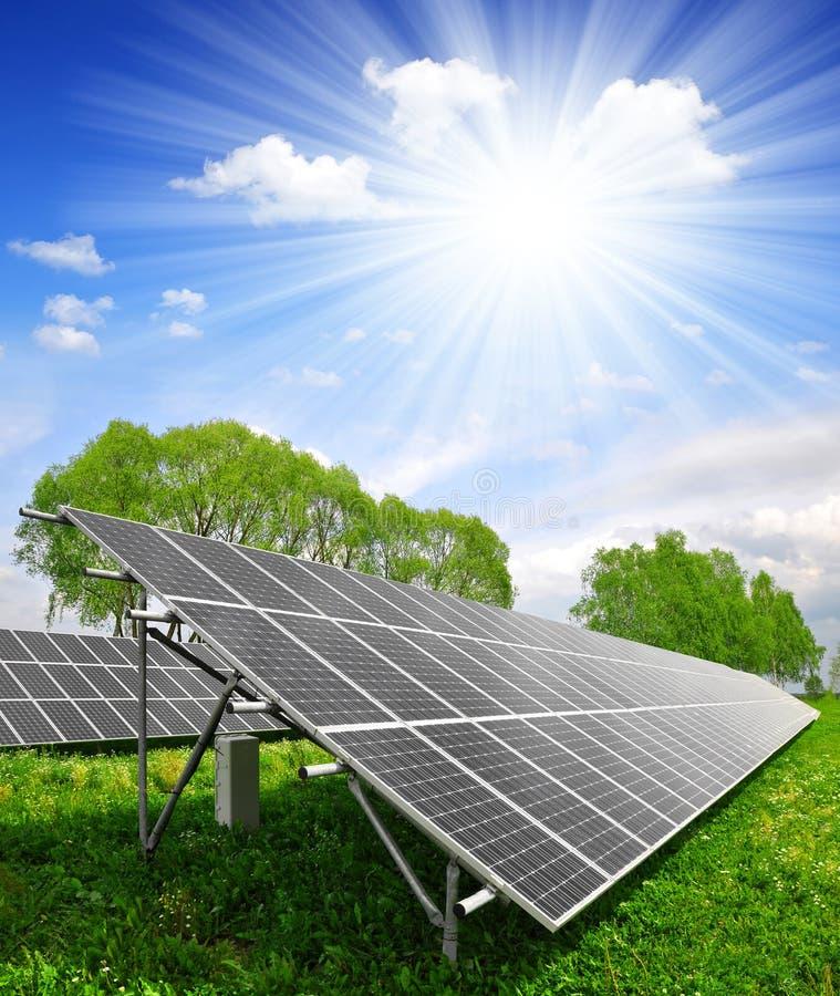 能源查出的对象镶板太阳 图库摄影