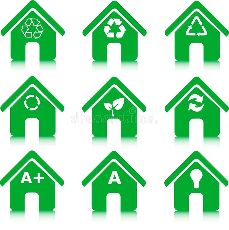 能源环境回收节省额 库存例证