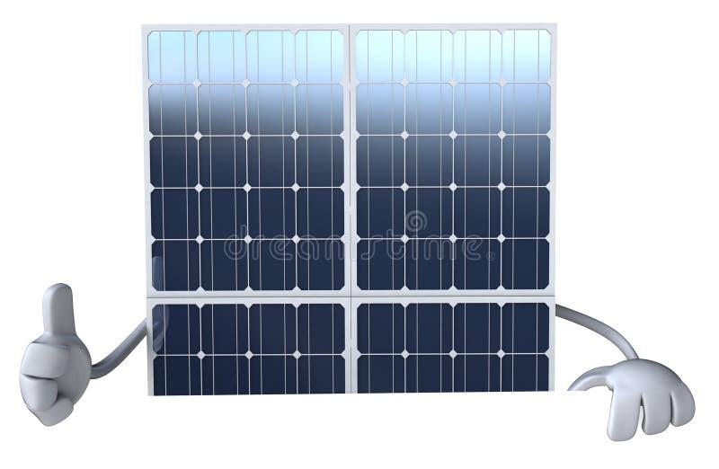 能源现有量查出的面板太阳星期日白色 库存例证