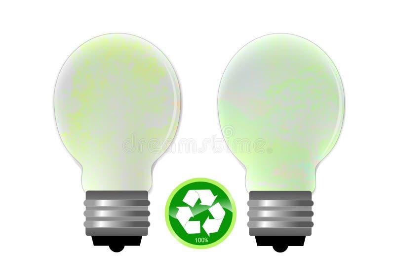 能源电灯泡节省额 向量例证