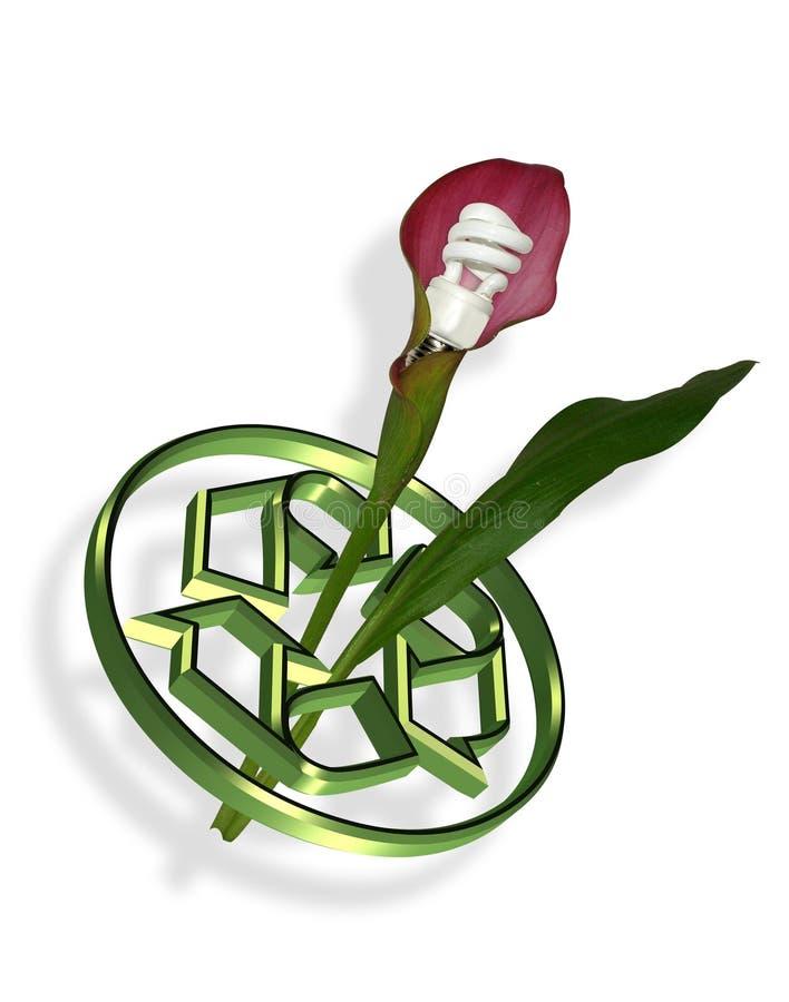 能源绿色徽标回收 库存例证