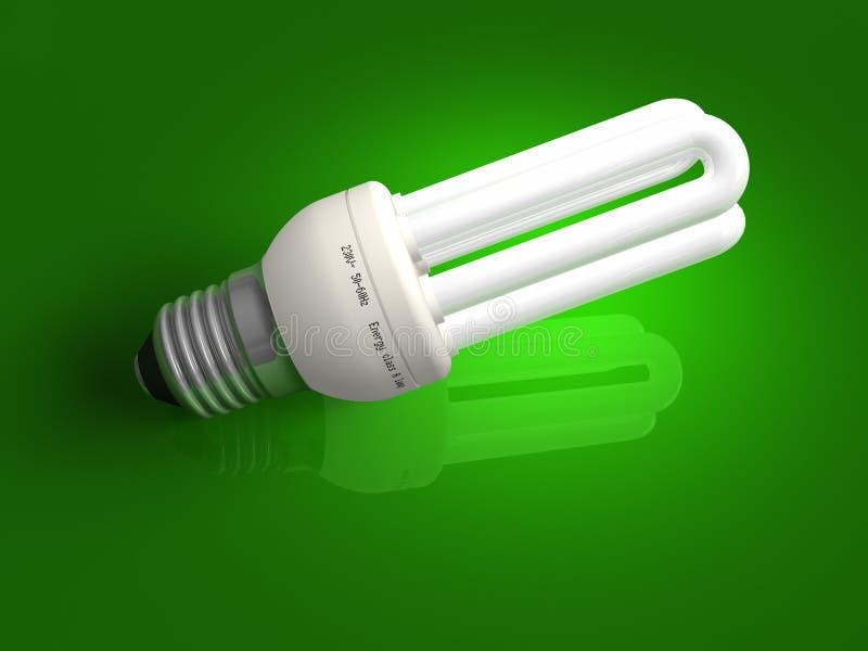 能源绿色闪亮指示低超出 向量例证