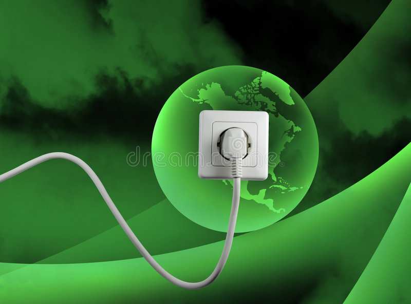 能源释放 向量例证