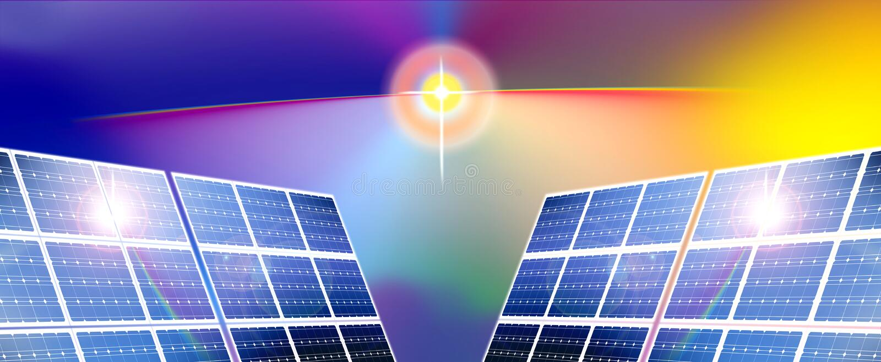 能源镶板太阳 向量例证