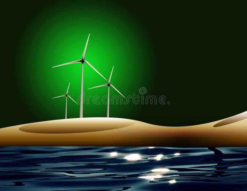 能源风 库存例证