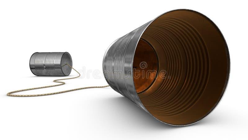 能电话锡 向量例证