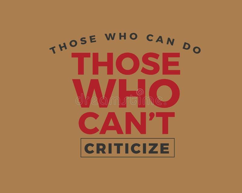 能的那些人-- 不能的那些人--批评 向量例证