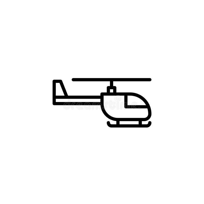 能设计要素直升机图标使用的徽标略写法 线型象传染媒介例证 向量例证