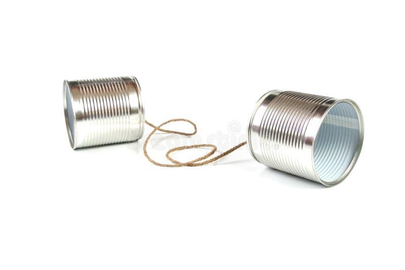 能通信概念电话锡 免版税库存照片