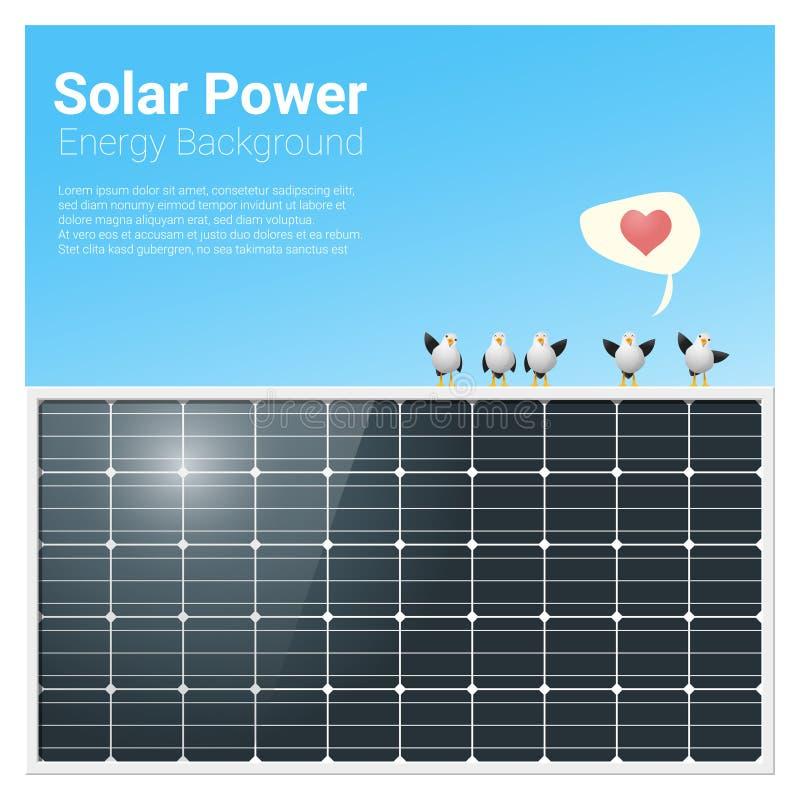 能量与太阳电池板的概念背景 向量例证