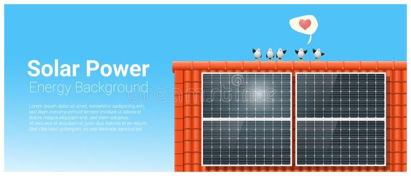 能量与太阳电池板的概念背景 库存例证