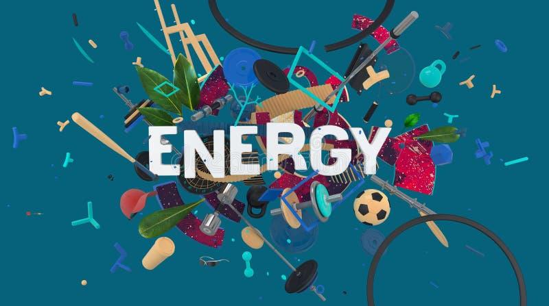 能量体育媒介卡片 皇族释放例证