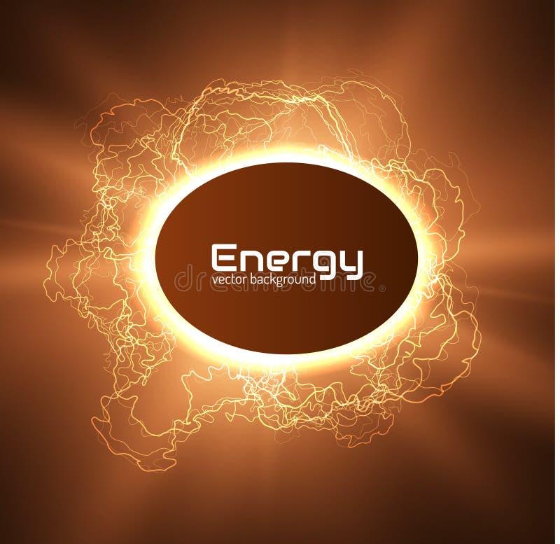 能量光亮的闪电框架传染媒介背景 EPS10 向量例证