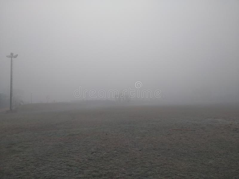 能量公园,有雾的天 库存图片