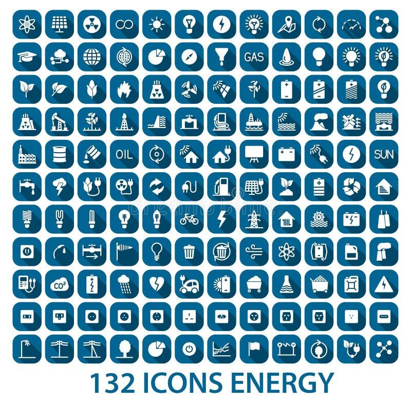 能量和资源象集合 向量例证