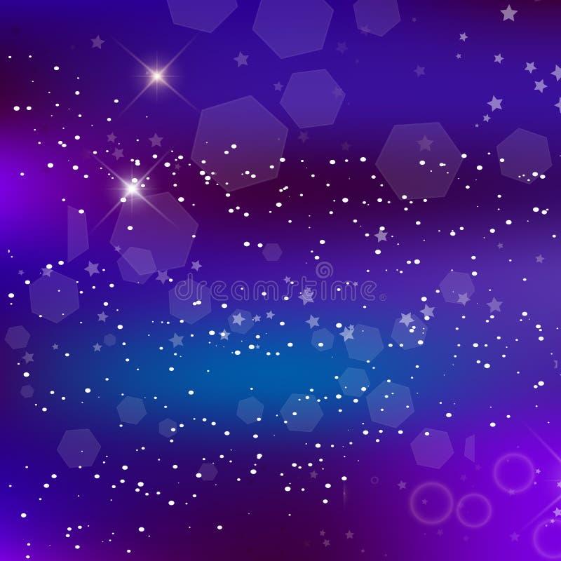 能量意想不到的方形的背景 Blurred发光的星系 皇族释放例证