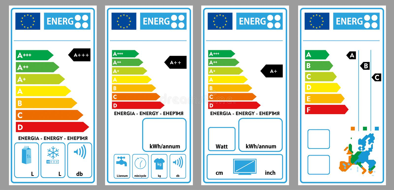 能量标签 向量例证