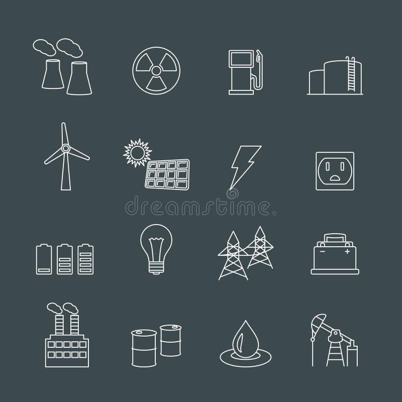 能量电力工业设计元素 皇族释放例证