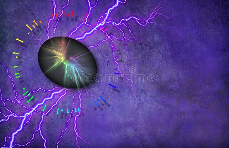能量石头 皇族释放例证