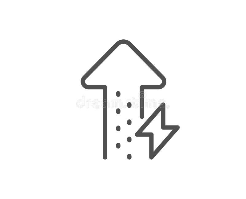 能量线象 雷电标志 电力消费 ?? 库存例证