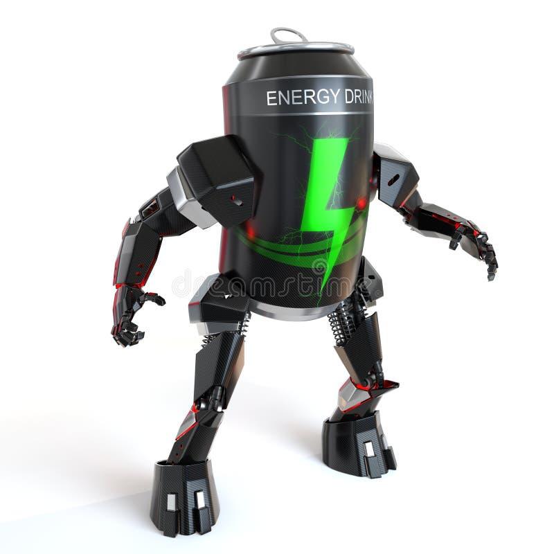 能量饮料能机器人 向量例证