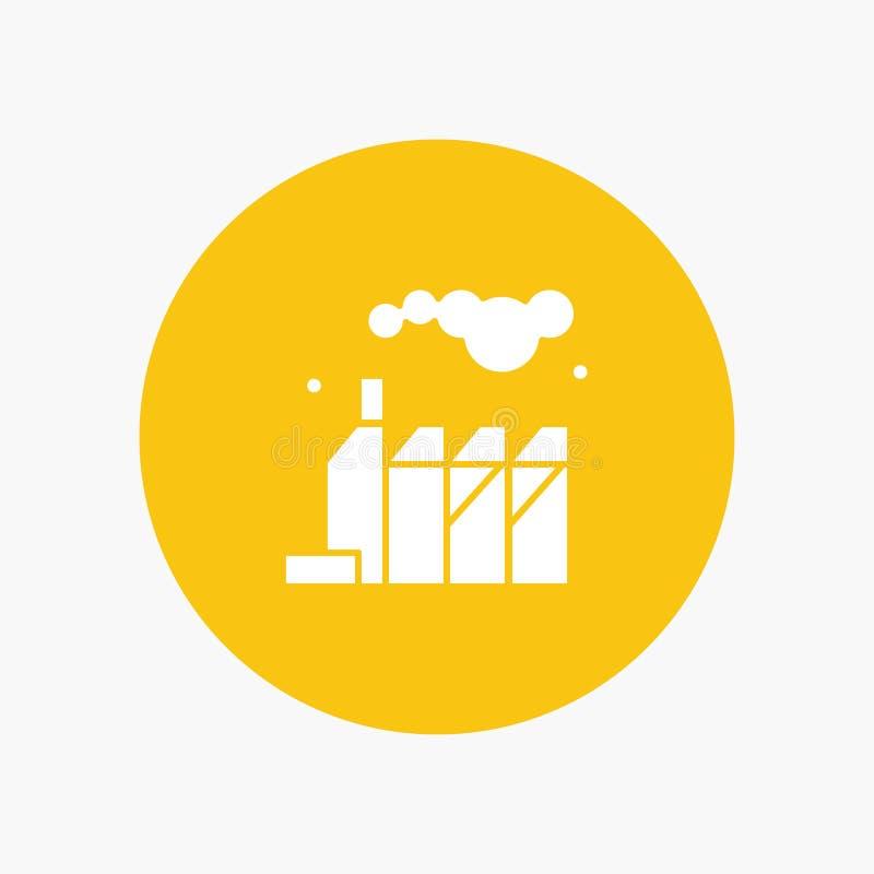 能量,污染,工厂 皇族释放例证