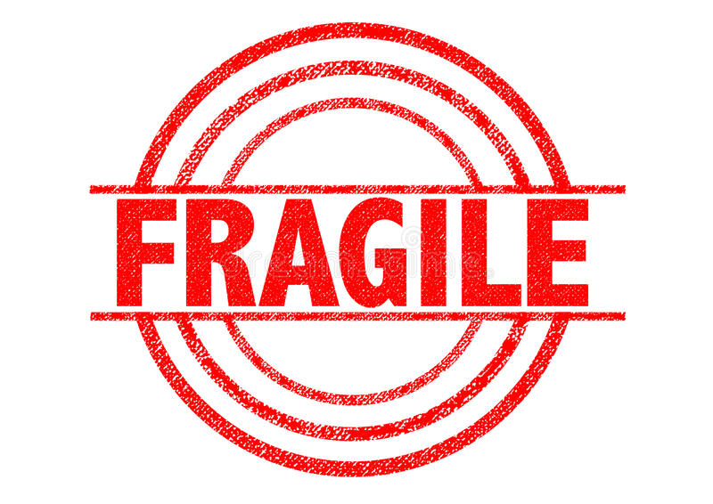 脆弱的不加考虑表赞同的人 库存例证