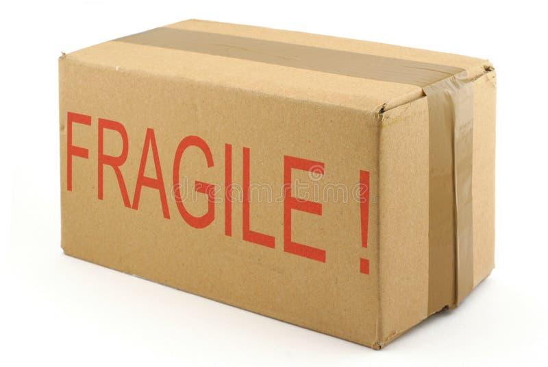 脆弱2个配件箱的纸板 图库摄影