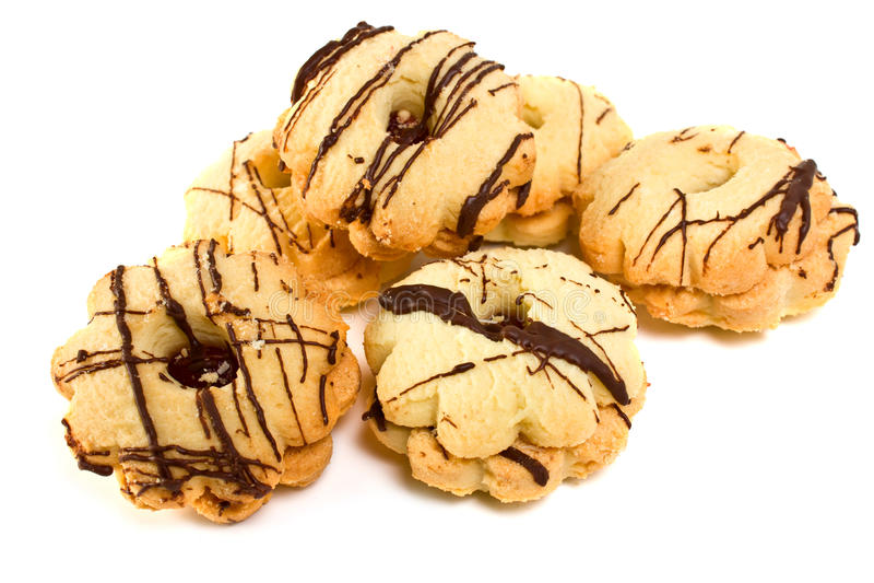 脆饼用巧克力 免版税库存图片