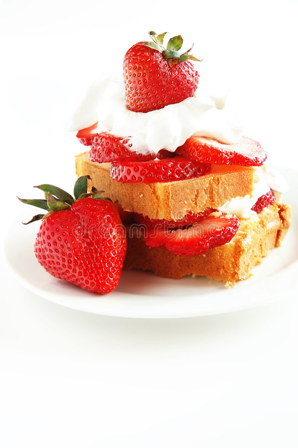 脆饼草莓 免版税库存照片