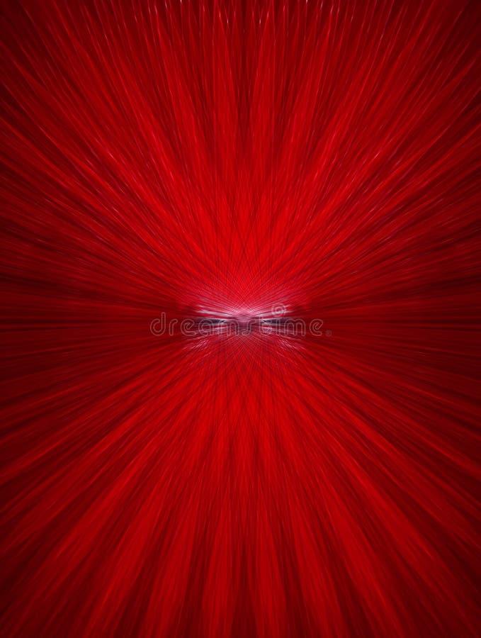 脉冲红色 向量例证