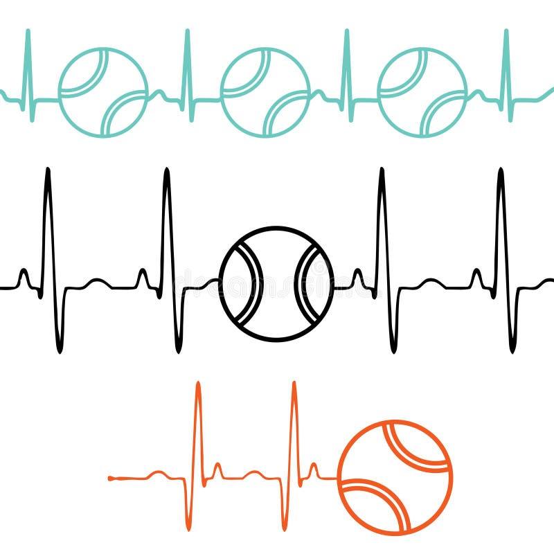 脉冲网球集合 库存例证