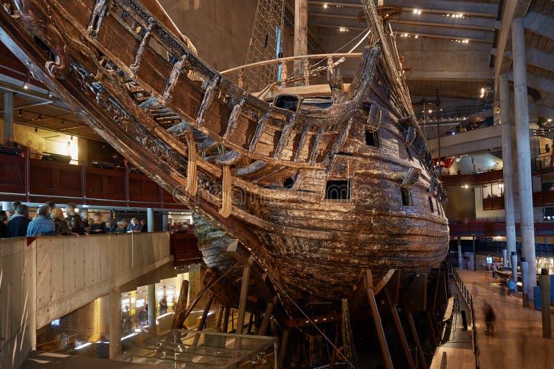 脉管博物馆和脉管瑞典军舰被制造在1626和1628之间 图库摄影