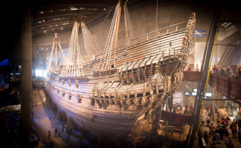 脉管博物馆船在斯德哥尔摩,瑞典 库存图片