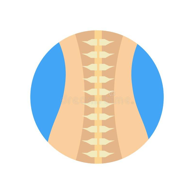 脊柱象在白色后面和标志隔绝的传染媒介标志 向量例证